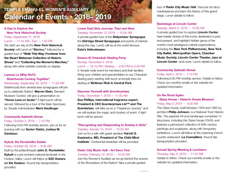 below please find our yearly calendar listings click the image to expand it